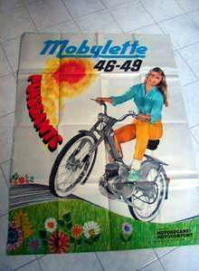 1968_motobecane_mobylette_poster | 2nd BuyVintage Online Auction: 2015