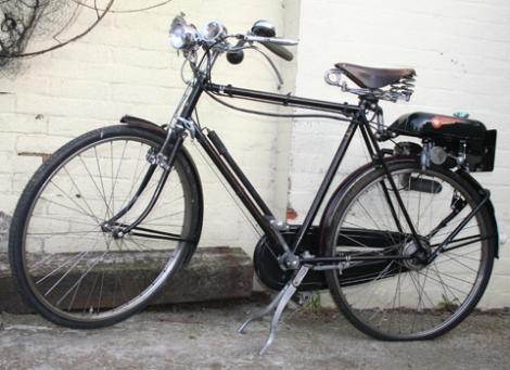 1950s Raleigh Superbe With Trojan Mini Motor Gearless