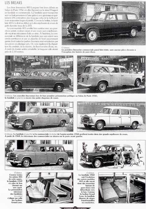 Page 36 1960 peugeot 403 break commerciale estate car for Consul catalog
