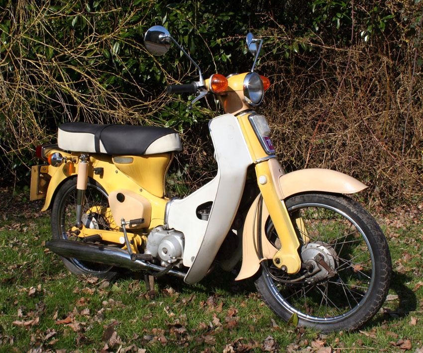 page 90. 1977 honda c70 step-through 4-stroke motorcycle 72c. one