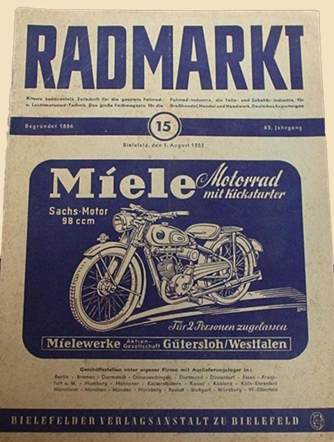 Page 152 1951 Rex Fm34 On 1936 Miele Damenrad Sold 2nd