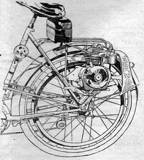 1947 1948 serwa type 75001 38cc 4 stroke 2 speed moteur. Black Bedroom Furniture Sets. Home Design Ideas