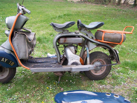 page 161 1954 lambretta ld 125cc with accessories sold 2nd buyvintage online auction 2015. Black Bedroom Furniture Sets. Home Design Ideas