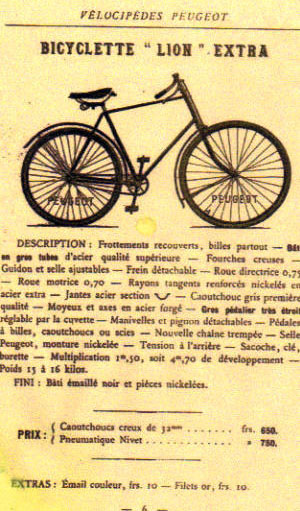 1895 peugeot 'bicyclette lion' | the online bicycle museum